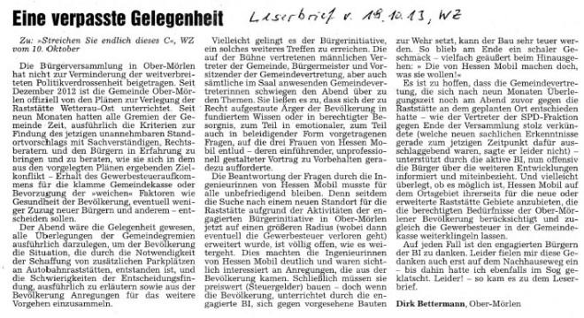 Ober-Mörlen, Ober Moerlen, Gemeindeversammlung, Raststätte, Wetterau, Bürgerinitiative, BI Ober-Mörlen
